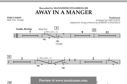 Away in a Manger: Schlagzeugstimme by folklore