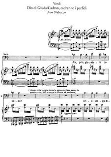 Dio di giuda: Für Stimmen und Klavier by Giuseppe Verdi
