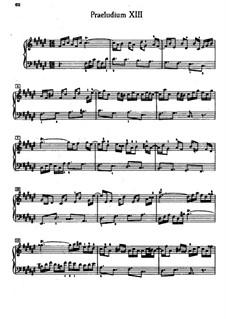Präludium und Fuge Nr.13 in fis-Dur, BWV 858: Für Klavier by Johann Sebastian Bach