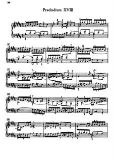Präludium und Fuge Nr.18 in gis-Moll, BWV 863: Für Klavier by Johann Sebastian Bach
