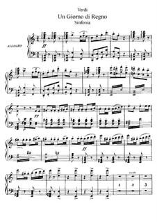 König für einen Tag: Akt I, für Solisten, Chor und Klavier by Giuseppe Verdi