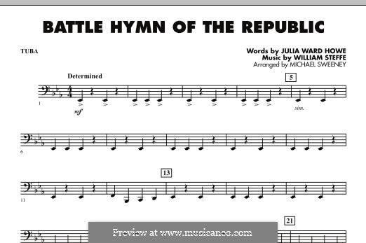 Battle Hymn of the Republic: For ensemble - tuba part by William Steffe