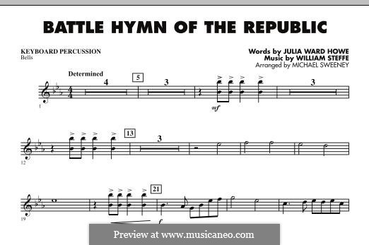 Battle Hymn of the Republic: For ensemble - Keyboard Percussion part by William Steffe