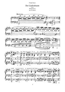 Nr.5 Der Lindenbaum: Bearbeitung für Klavier, S.561 No.7 by Franz Schubert