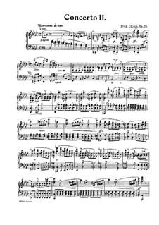 Vollständiger Konzert: Version für Klavier by Frédéric Chopin