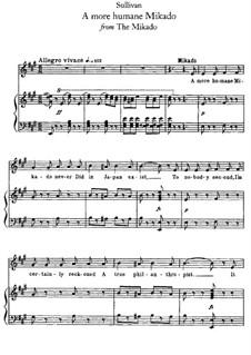 Act II, No.6 A More Humane Mikado: Act II, No.6 A More Humane Mikado by Arthur Sullivan