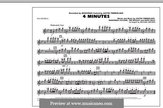 4 Minutes (Madonna featuring Justin Timberlake): Flute/Piccolo part by Madonna, Floyd Nathaniel Hills, Timbaland
