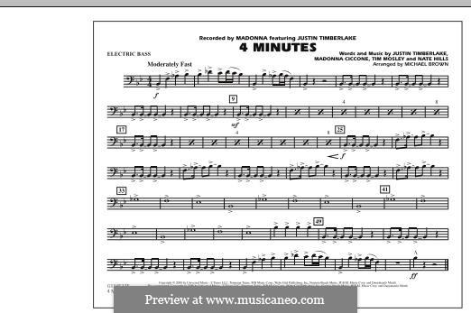 4 Minutes (Madonna featuring Justin Timberlake): Electric Bass part by Madonna, Floyd Nathaniel Hills, Timbaland
