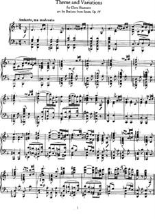 Streichsextett Nr.1 in B-Dur, Op.18: Teil II. Version für Klavier by Johannes Brahms