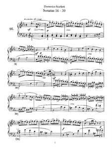 Sonaten für Cembalo (oder Klavier): Nr.16-30 by Domenico Scarlatti