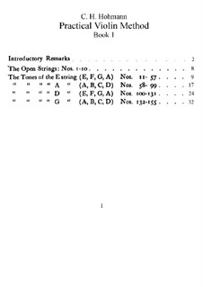 Practical Violin Method: Buch I by Christian Heinrich Hohmann