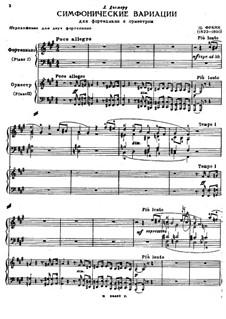 Sinfonische Variationen, M.46: Für zwei Klaviere, vierhändig by César Franck