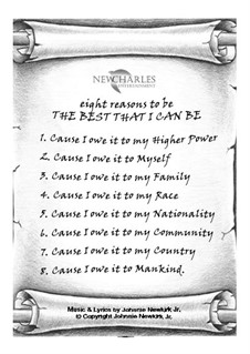 Eight Reasons to Be the Best That I Can Be: Eight Reasons to Be the Best That I Can Be by Johnnie Newkirk Jr