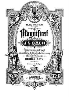 Magnificat in D-Dur, BWV 243: Klavierauszug mit Singstimmen by Johann Sebastian Bach
