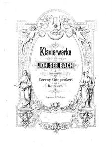 Sechs Partitas, BWV 825-830: Nr.1-3, für Klavier by Johann Sebastian Bach