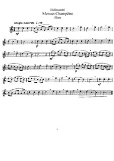 Menuet Champetre for Flute and Piano: Solostimme by Nicolas-Joseph Hüllmandel