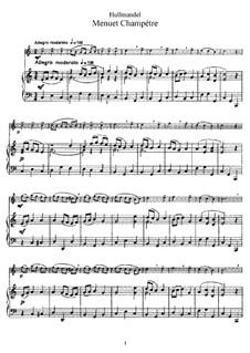 Menuet Champetre for Flute and Piano: Partitur by Nicolas-Joseph Hüllmandel