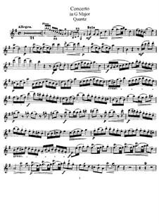 Konzert für Flöten und Orchester Nr.161, QV 5:174: Solostimme by Johann Joachim Quantz