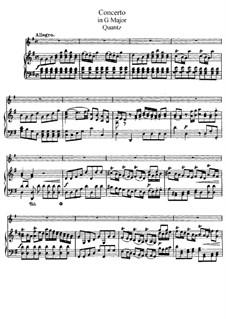 Konzert für Flöten und Orchester Nr.161, QV 5:174: Version für Flöte und Klavier – Partitur by Johann Joachim Quantz