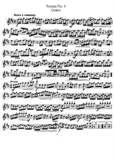 Sonate für Flöte und Basso Continuo Nr.4, QV 1:48 Op.1: Solostimme by Johann Joachim Quantz