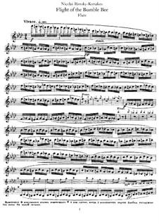 Das Märchen vom Zaren Saltan. Oper: Hummelflug, für Flöte und Klavier – Flötenstimme by Nikolai Rimsky-Korsakov