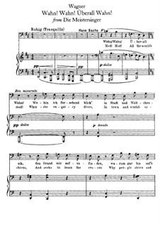 Wahn! Wahn! Überall Wahn: Für Stimme und Klavier by Richard Wagner