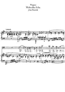 Wehvolles Erbe: Für Stimme und Klavier by Richard Wagner