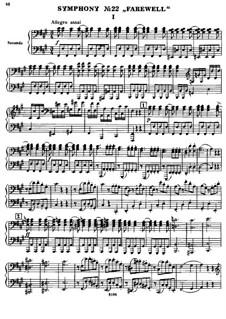 Sinfonie Nr.45 in fis-Moll 'Abschied', Hob.I/45: Version für Klavier, vierhändig by Joseph Haydn