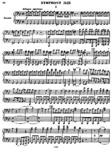 Sinfonie Nr.83 in g-Moll 'Das Huhn', Hob.I/83: Version für Klavier, vierhändig by Joseph Haydn