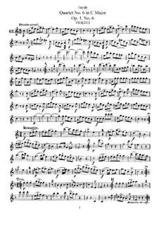Streichquartett Nr.6 in C-Dur, Hob.III/6 Op.1 No.6: Stimmen by Joseph Haydn