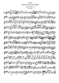 Streichquartett Nr.8 in E-Dur, Hob.III/8 Op.2 No.2: Stimmen by Joseph Haydn