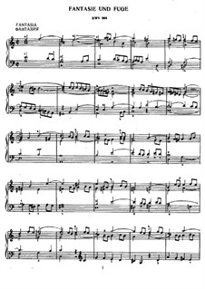 Fantasie und Fuge in a-Moll, BWV 904: Für Klavier by Johann Sebastian Bach