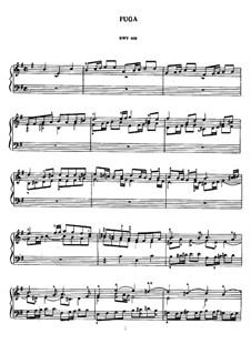 Fuge in e-Moll, BWV 956: Für Klavier by Johann Sebastian Bach