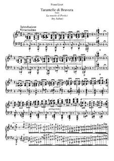 Transkription über Thema aus 'Die Stumme von Portici' von Auber, S.386: Für Klavier by Franz Liszt