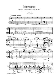 Impromptus über eine Thema von Clara Wieck, Op.5: Für Klavier by Robert Schumann