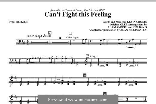 Can't Fight This Feeling: Synthesizer part by Kevin Cronin
