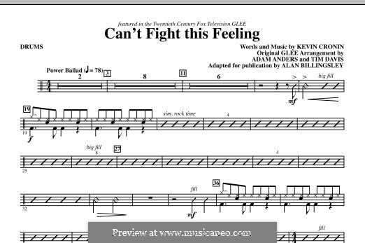 Can't Fight This Feeling: Drums part by Kevin Cronin