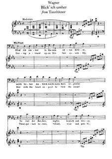 Akt II. Blick' ich umher: Für Stimme und Klavier by Richard Wagner