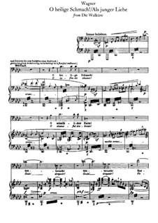 Die Walküre, WWV 86b: O heilige Schmach, für Stimmes und Klavier by Richard Wagner