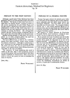 Easiest Elementary Method For Beginners, Op.38: Easiest Elementary Method For Beginners by Franz Wohlfahrt