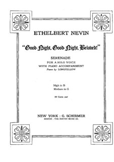 Good-Night, Good-Night, Beloved: Good-Night, Good-Night, Beloved by Ethelbert Woodbridge Nevin