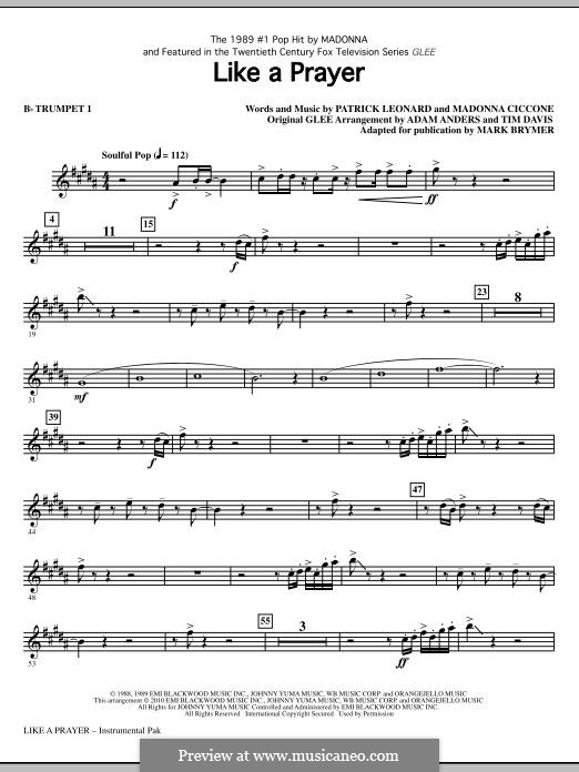 Like a Prayer: Bb Trumpet 1 part by Madonna, Patrick Leonard