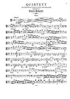Klavierquartett in f-Moll: Violastimme by Giulio Roberti