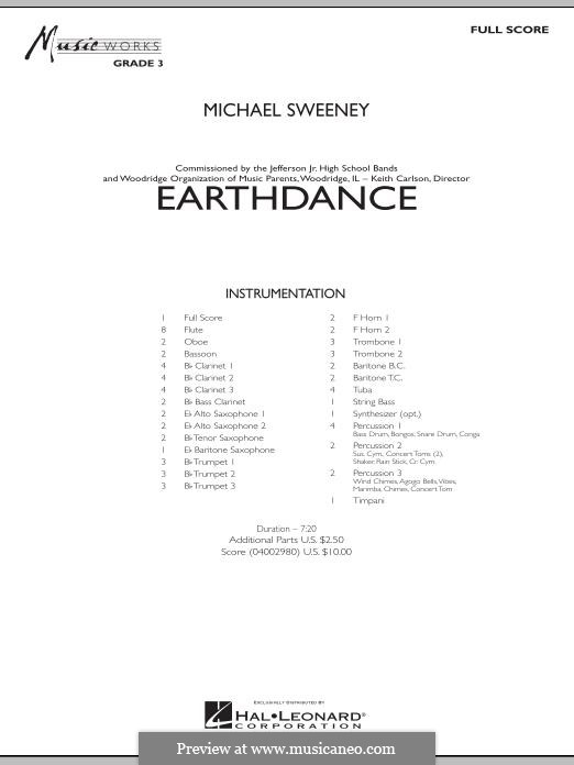Earthdance: Vollpartitur by Michael Sweeney
