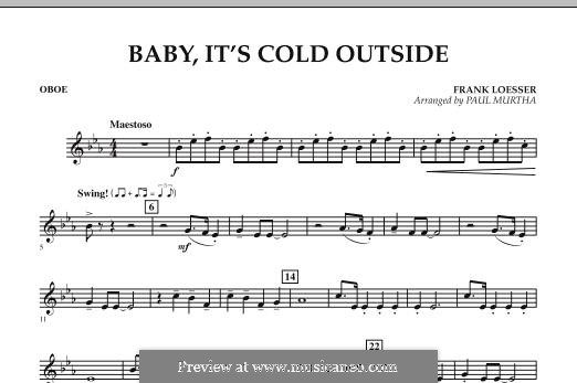 Baby, It's Cold Outside (arr. Paul Murtha): Oboenstimme by Frank Loesser