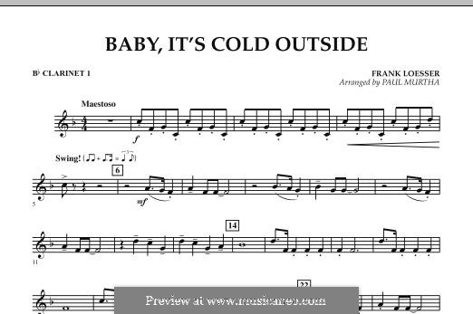 Baby, It's Cold Outside (arr. Paul Murtha): Bb Clarinet 1 part by Frank Loesser