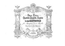 Vier Trios für Violine, Cello und Klavier: Version für Klavier, vierhändig by Ludwig van Beethoven
