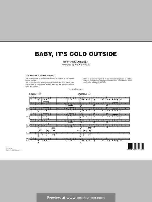 Baby, It's Cold Outside (arr. Rick Stitzel): Vollpartitur by Frank Loesser