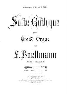 No.4 Toccata: Für zwei Klaviere, achthändig – Stimmen für Klavier I by Léon Boëllmann