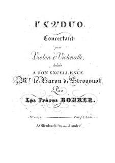 Zwei Konzertduos für Violine und Cello: Vollsammlung – Stimmen by Antoine Bohrer
